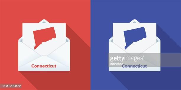 投票で米国の選挙メール:コネチカット州 - コネチカット州点のイラスト素材/クリップアート素材/マンガ素材/アイコン素材