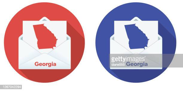usa election mail in voting: georgia - georgia us state stock illustrations