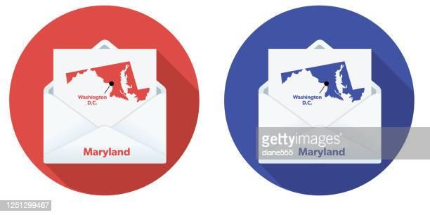 投票で米国の選挙メール:メリーランド州 - 支援団体点のイラスト素材/クリップアート素材/マンガ素材/アイコン素材