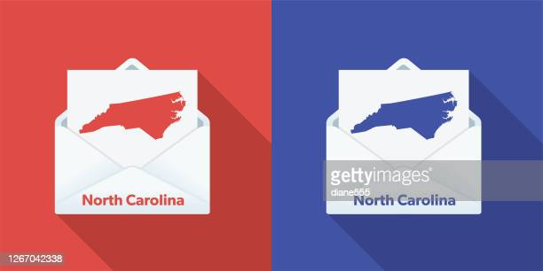 usa election mail in voting: north carolina - north carolina us state stock illustrations