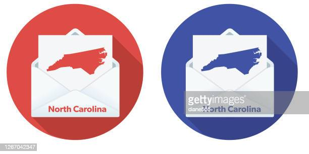 usa election mail in voting: north carolina - political party stock illustrations
