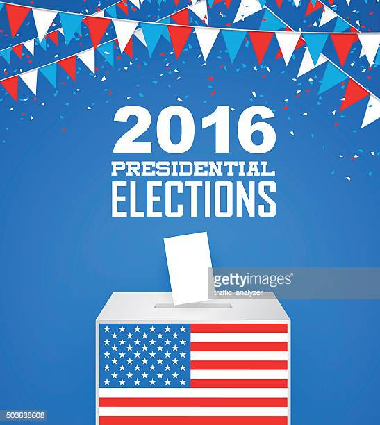 election - 2016 stock illustrations, clip art, cartoons, & icons