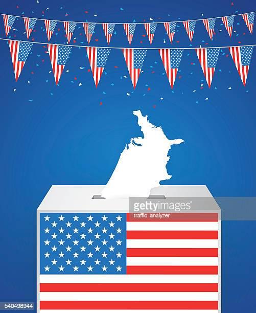 ilustraciones, imágenes clip art, dibujos animados e iconos de stock de elección - urna de voto
