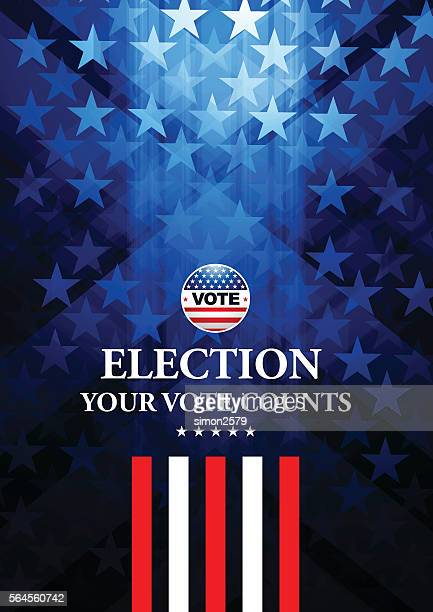 usa election vote button with star shape background - politics abstract stock illustrations