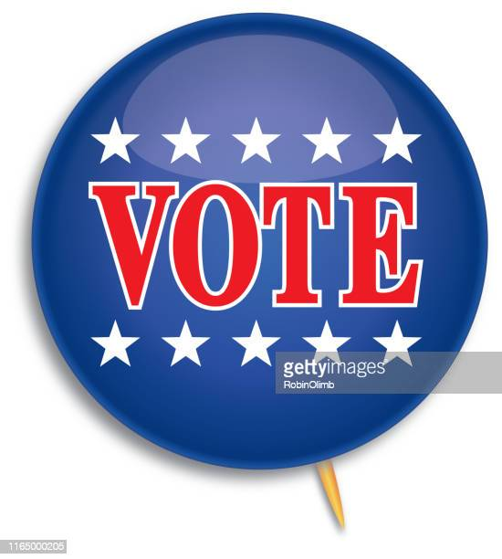 election vote pin - brooch stock illustrations