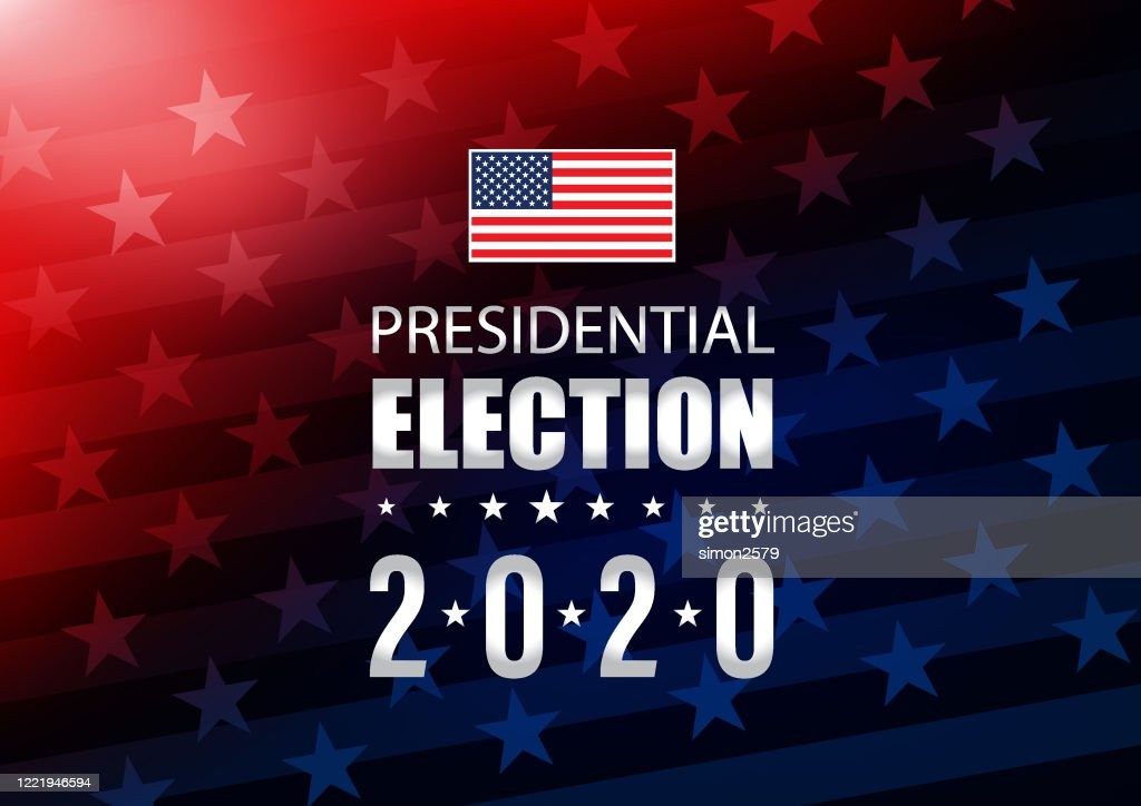 2020 USA Election with stars and stripes background : stock illustration
