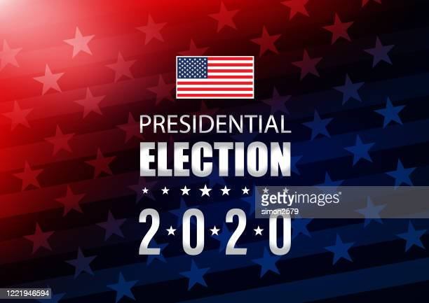 2020 usa election with stars and stripes background - presidential election stock illustrations