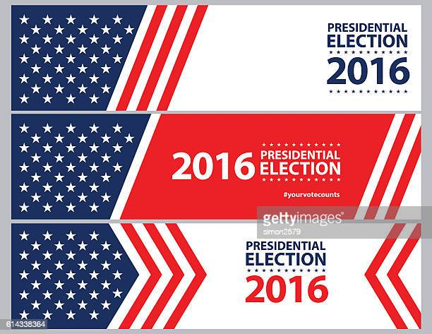usa election with stars and stripes banner background - politics abstract stock illustrations