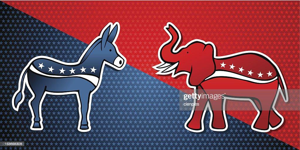 USA elections parties symbols