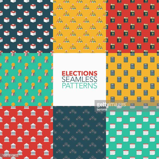 Elections Seamless Pattern Set