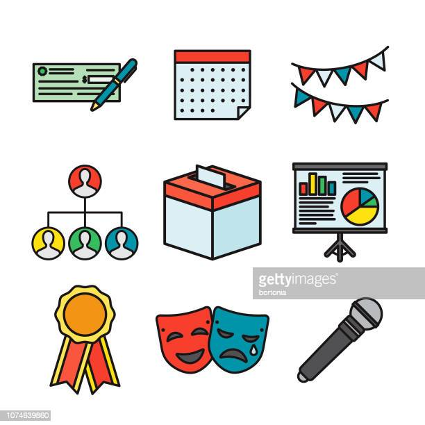 Elections Thin Line Icon Set