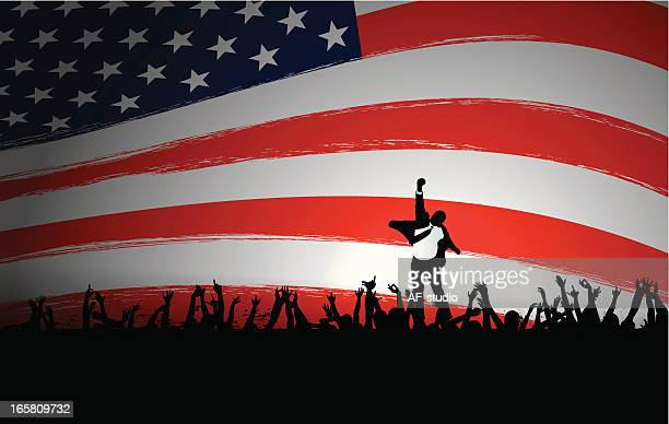electoral success - political rally stock illustrations, clip art, cartoons, & icons
