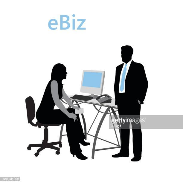 electra business - assistant stock illustrations, clip art, cartoons, & icons