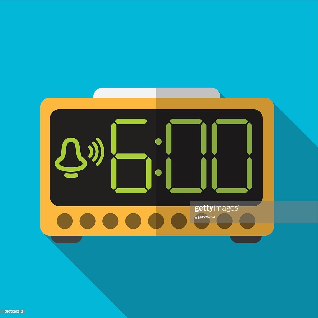 Electric alarm flat icon illustration