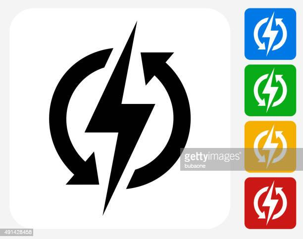 Electric Bolt Icon Flat Graphic Design