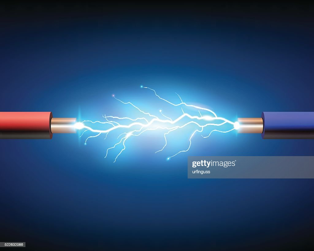Electric cable with sparks