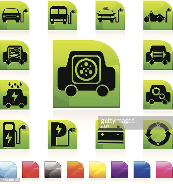 electric car icon - animals charging stock illustrations, clip art, cartoons, & icons