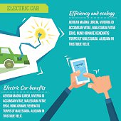 Electric car infographic illustration