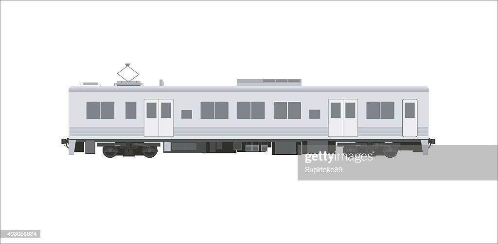 electric car train simple illustration