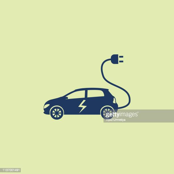 electric car - hybrid vehicle stock illustrations