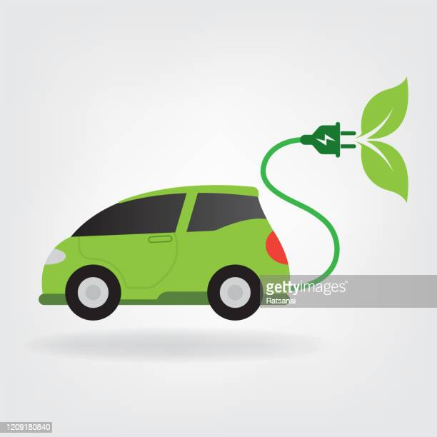 electric car - alternative fuel vehicle stock illustrations