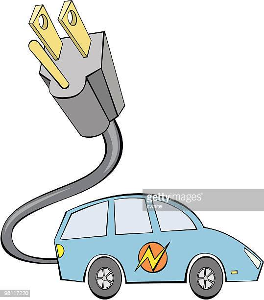 electric car - gas prices stock illustrations, clip art, cartoons, & icons