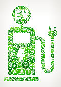 Electric Charge Station Nature and Environmental Conservation Icon Pattern