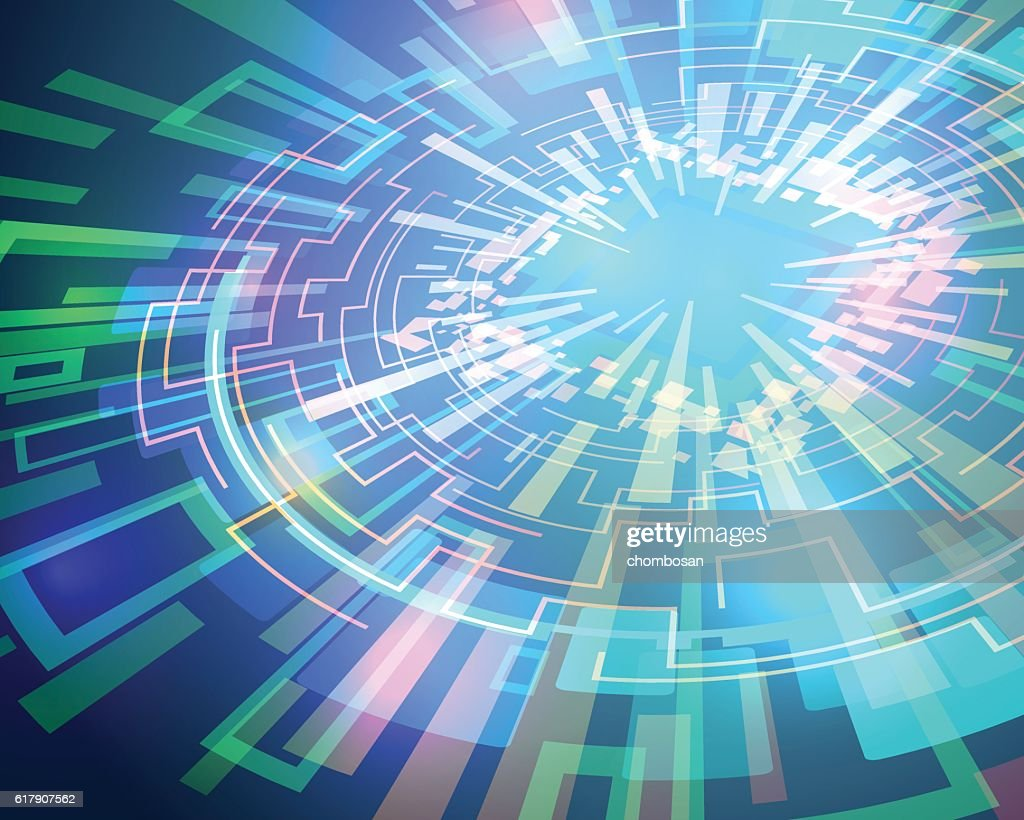 electric circuit, communication network, technological abstract image