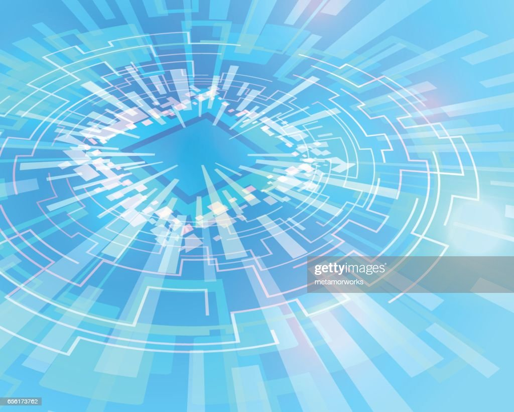 electric circuit, communication network, technological abstract image, vector illustration