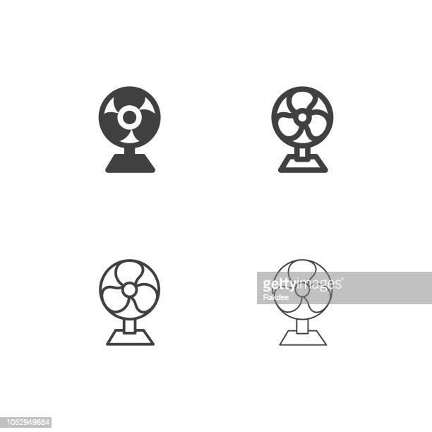 electric fan icons - multi series - medical ventilator stock illustrations, clip art, cartoons, & icons