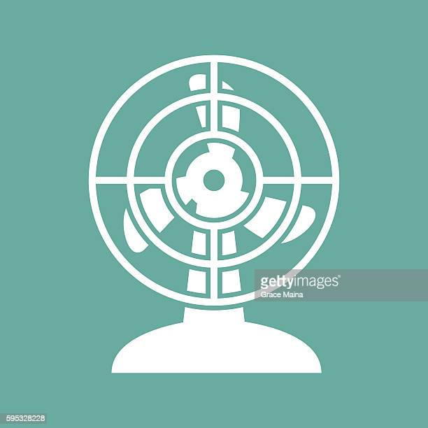 electric fan illustration - vector - electric fan stock illustrations, clip art, cartoons, & icons
