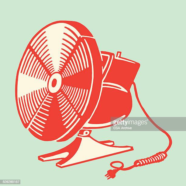 electric fan - electric fan stock illustrations, clip art, cartoons, & icons