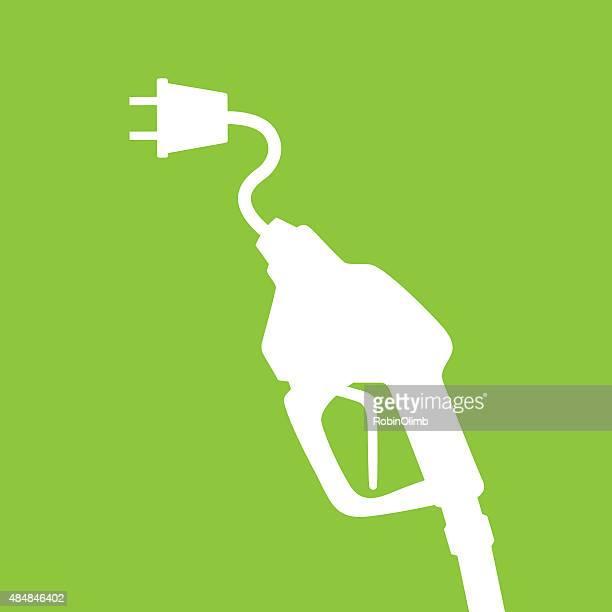 ilustraciones, imágenes clip art, dibujos animados e iconos de stock de bomba eléctrica a gas - vehículo eléctrico