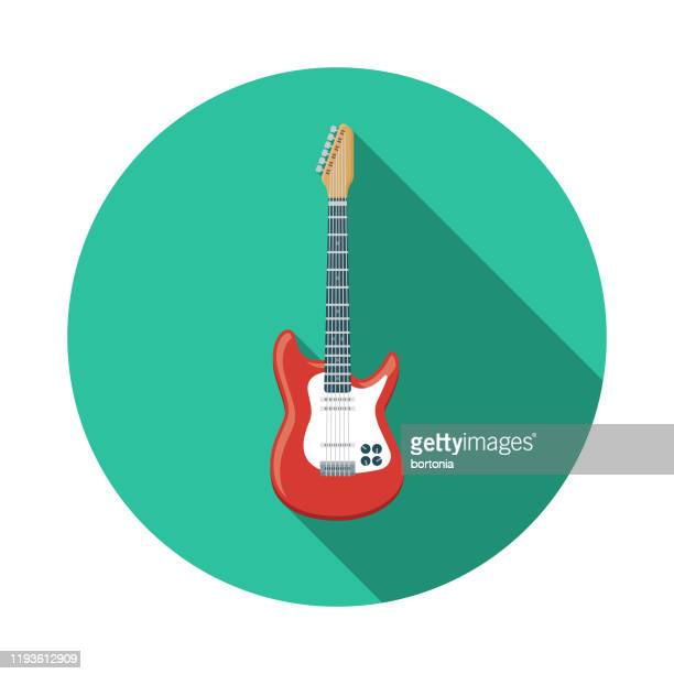 electric guitar music icon - electric guitar stock illustrations