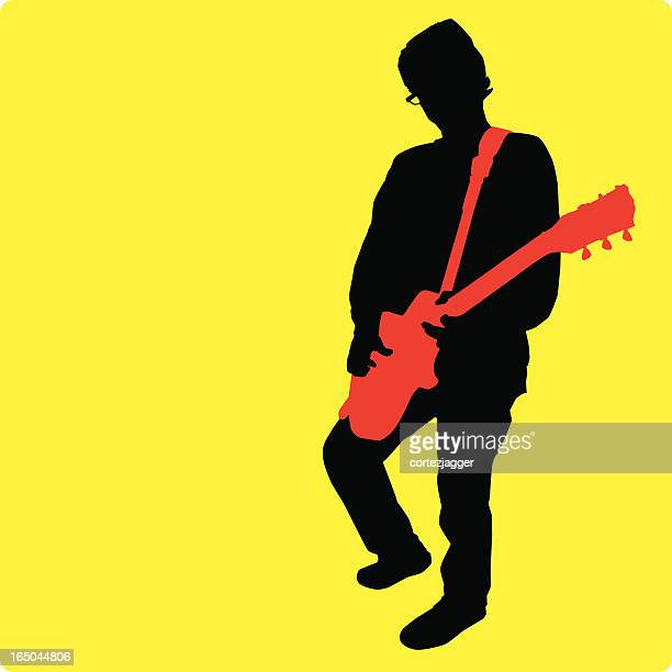 Electric Guitar Player (vector illustration)