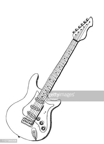 electric guitar - electric guitar stock illustrations
