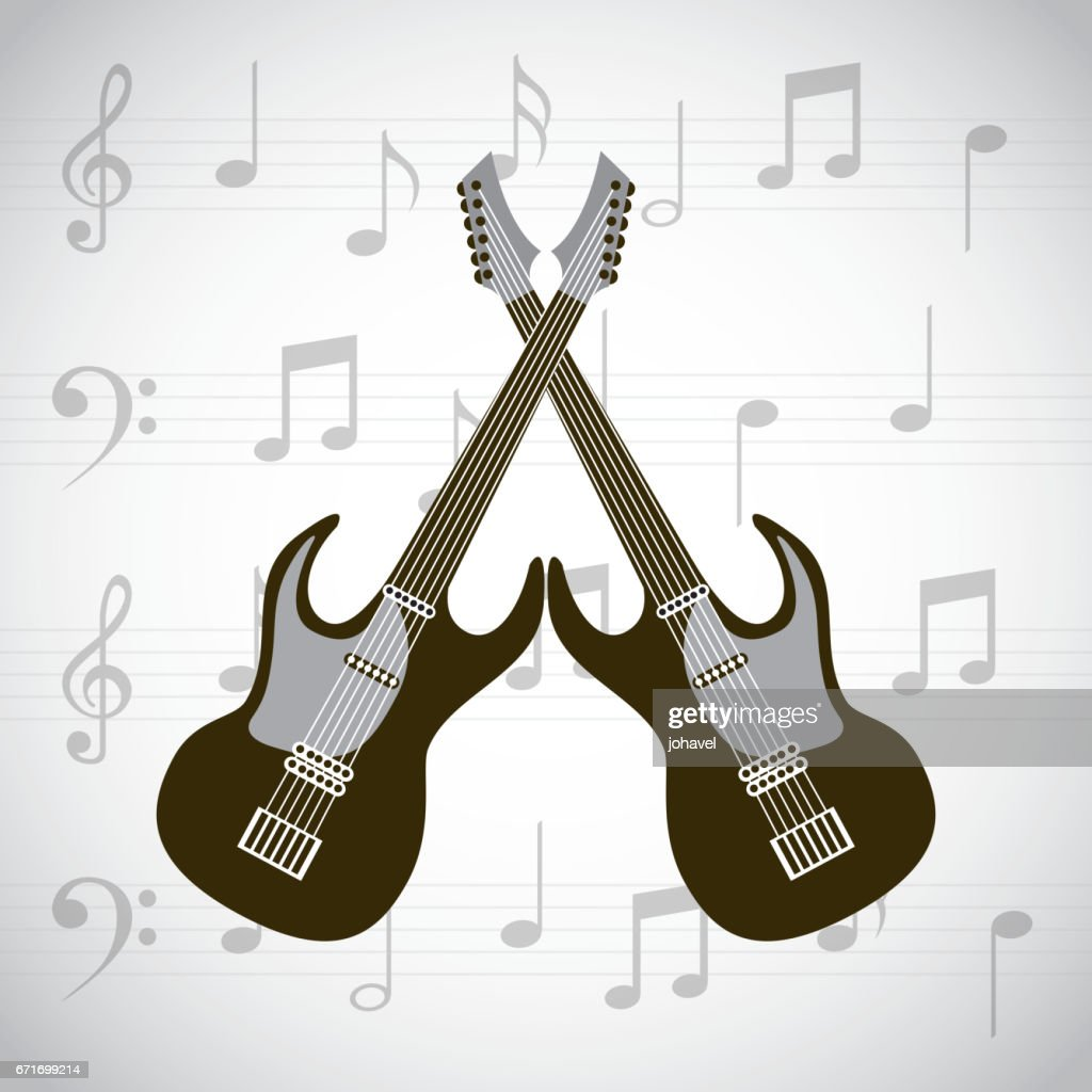 electric guitars icons