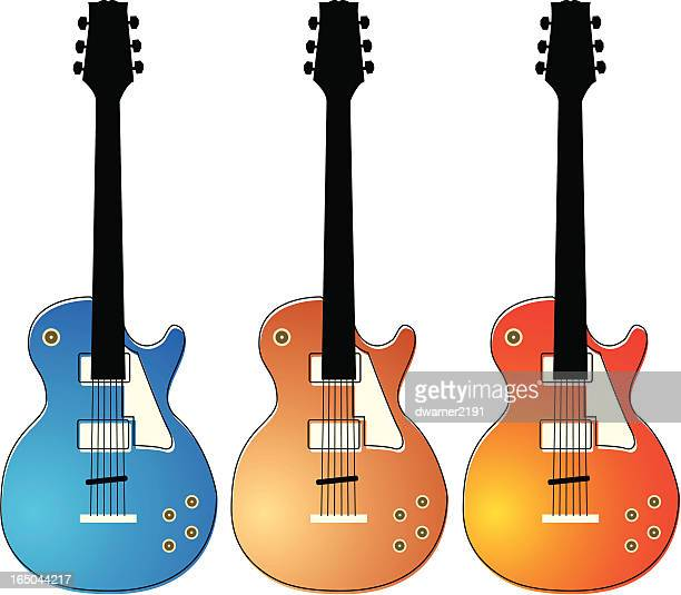 electric guitars - classical theater stock illustrations, clip art, cartoons, & icons