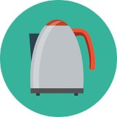 Electric Kettle Colored Vector Illustration