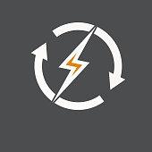 Electric logo, icon, symbol, design template