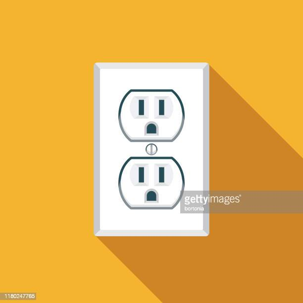 electric outlet energy icon - electrical outlet stock illustrations