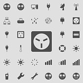 electric outlet icon. Detailed set of  Minimalistic  icons. Premium quality graphic design sign. One of the collection icons for websites, web design, mobile app