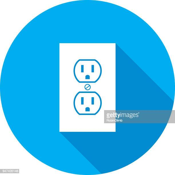 electric outlet icon - electric plug stock illustrations