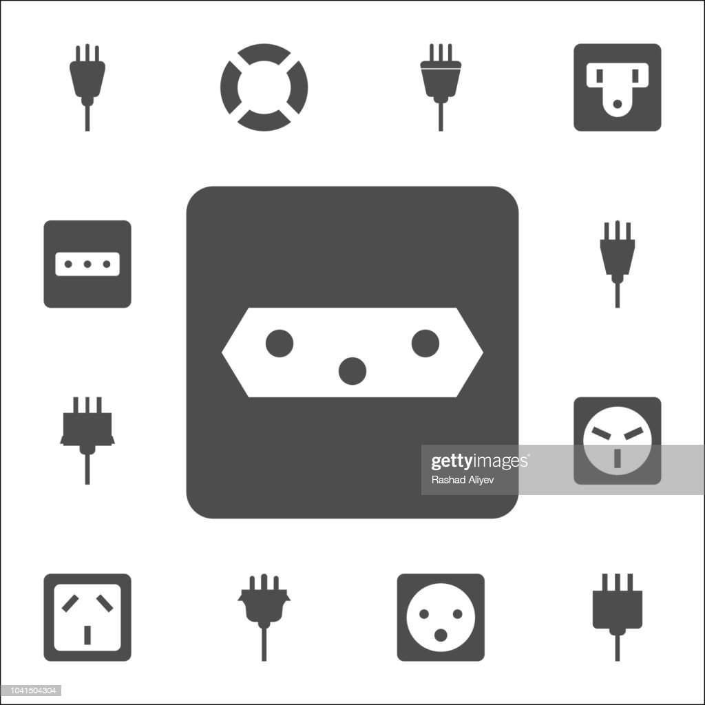 electric outlet icon. web icons universal set for web and mobile