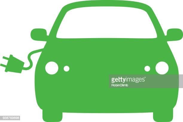 electric plug icon - sedan stock illustrations, clip art, cartoons, & icons