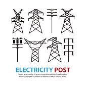 electric post,high voltage set