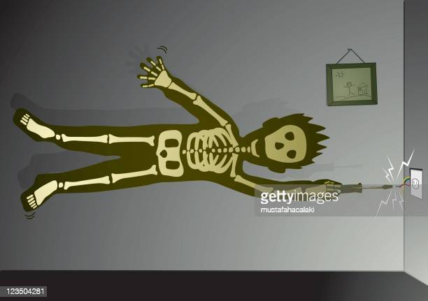 electric shock - power outage stock illustrations, clip art, cartoons, & icons