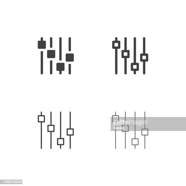 electric sound effect icons - multi series - sliding stock illustrations