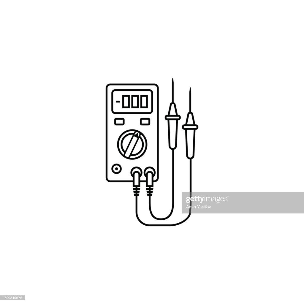 Groß Elektrische Liniensymbole Zeitgenössisch - Elektrische ...