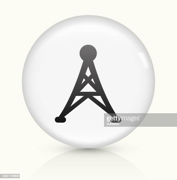 Electric Tower icon on white round vector button